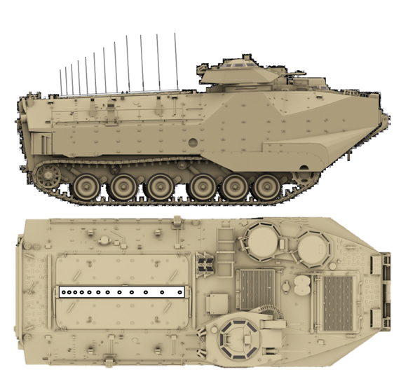 AAV with LPMA top and side view