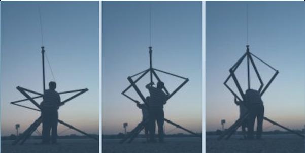 crossed-loop/monopole direction finding antenna
