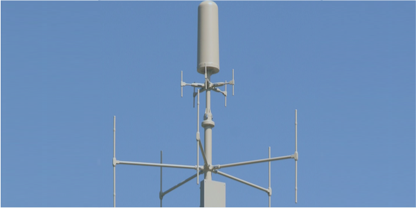 DF-A0038 direction finding antenna with monitoring 20 -3000 MHz
