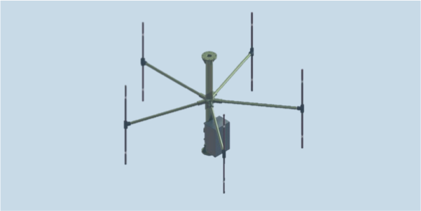 DF-A0122 single channel wideband direction finding and monitoring antenna