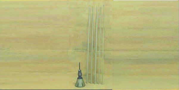 HF5M HF whip antenna 5 meters