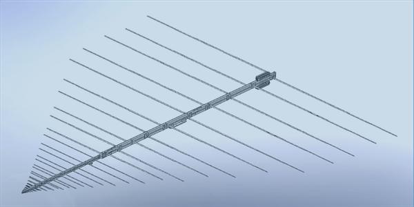 LPDA-A0033 high power wideband log periodic dipole array antenna