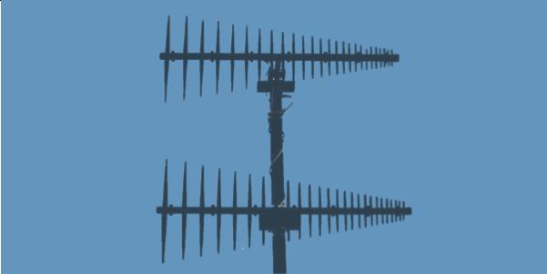 LPDA-A0062 high power high gain VHF log periodic dipole array antenna stack