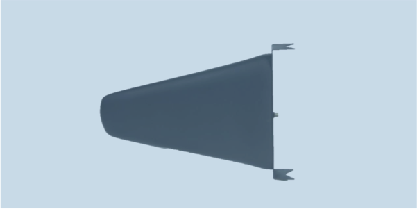 LPDA-A0067 high gain high power UHF log periodic dipole array antenna