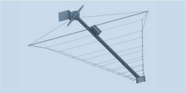 LPDA-A0094 high power collapsible wideband wire LPDA antenna