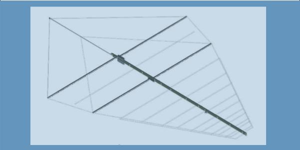LPDA-A0098 deployableble high power wire LPDA antenna