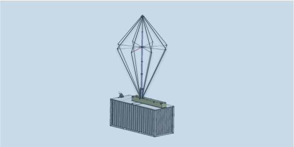 OMNI-A0092-Wideband HF High-Power Antenna System