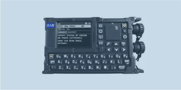 RA5 secure data terminal with HF and V/UHF modem for radio data services