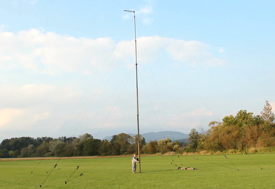 STV mast erected with LPDA on top.png