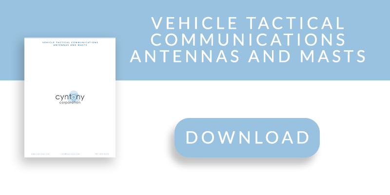 VEHICLE TACTICAL COMMUNICATIONS ANTENNAS AND MASTS